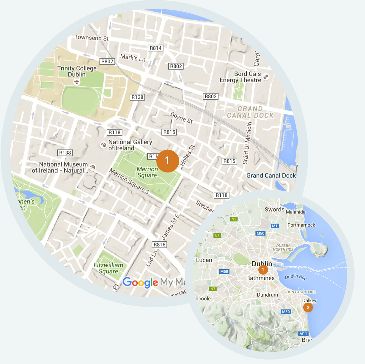 Our location in Dublin